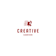 Letter R Red Rooster Creative Business Logo Design