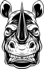 Ferocious Rhino Head
