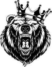Ferocious Bear In The Crown
