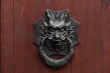 Bronze Door Handle Muzzle Chin...