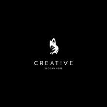 Wolf Head Animal Creative Vector Logo Design