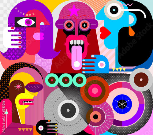 Staande foto Abstractie Art People Use Drugs vector illustration
