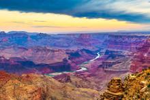 Grand Canyon, Arizona, USA At Dawn From The South Rim