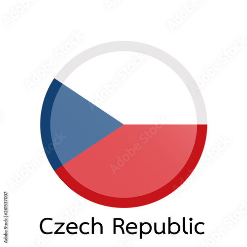 Photo  Flags of Czech Republic circle shaped design.Vector