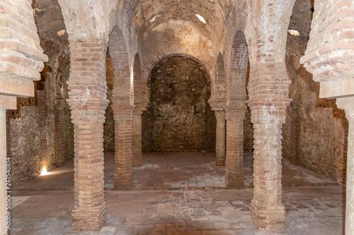 Leinwand Poster Village de Ronda - monuments - bains arabes