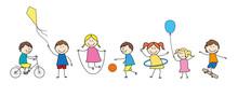 Enfants En Train De Jouer