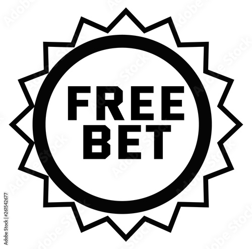Fotografia, Obraz  FREE BET stamp on white
