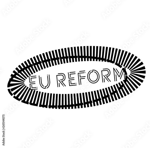 Photo EU REFORM stamp on white
