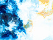 Blue creative abstract hand painted background, wallpaper, texture