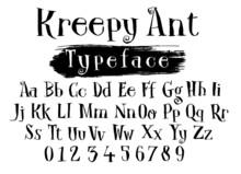Creepy Font Alphabet