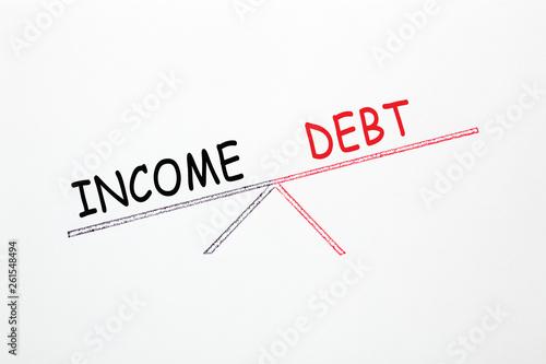 Fotografía  Debt-to-Income Concept