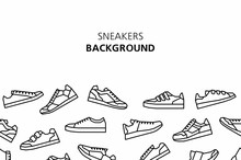 Sneakers Background. Isolated ...