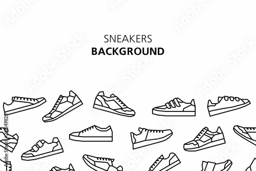 Sneakers background. isolated on white background Fototapeta