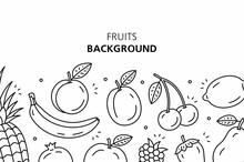 Fruits Background. Isolated On...