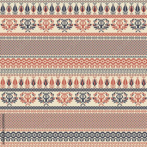 Palestinian embroidery pattern 141 Canvas Print