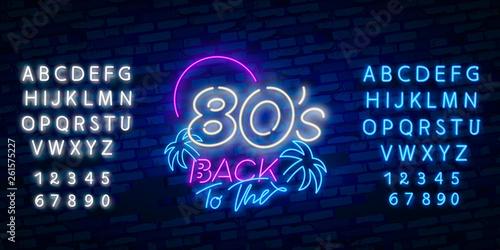 Papel de parede  Back to the 80s neon sign vector