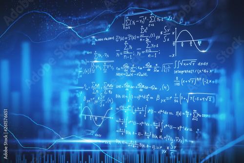 Valokuva Digital mathematical formulas wallpaper