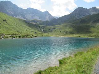 Schwellisee, with mountains in background, Switzerland
