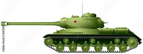 Tank, World War II Soviet heavy tank IS-2 or IS-122 from Joseph Stalin IS tank s Billede på lærred