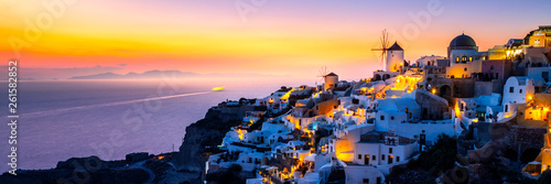 Foto auf Gartenposter Santorini View of Oia the most beautiful village of Santorini island.