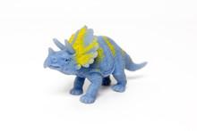 Dinosaur Toy On White Background
