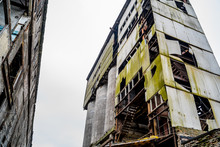 Large Crumbling Abandoned Factory