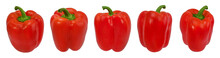 Red Peppers  Isolated.  With Clipping Path.