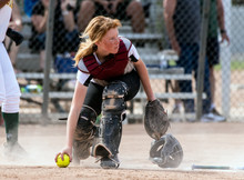 Skilled Softbaall Catcher With...