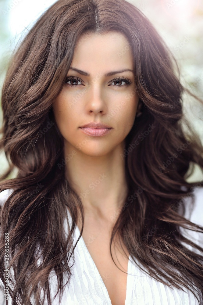 Amazing beautiful woman portrait with perfect skin