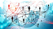 Social media and people network, graphs
