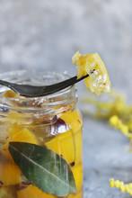 Preserved Lemons With Salt. Salted Canned Lemons.  Moroccan Cuisine. Fermenting