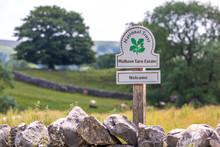 Malham Tarn Estate Sign