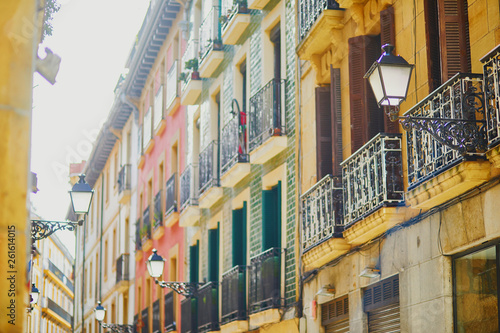 Tablou Canvas Beautiful facades of buildings in San Sebastian (Donostia), Spain