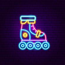 Roller Skating Neon Label