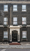 Front Of A Generic Luxury London Townhouse.