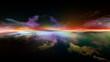 canvas print picture Digital Sunset