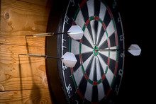 One Dart In Target Two Darts Miss.