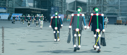 Fotografía iot machine learning with human and object recognition which use artificial inte
