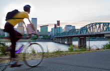 Cycling In Portland, Oregon