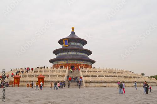 In de dag Peking Beijing, Temple of Heaven, Hall of Prayer for Good Harvest