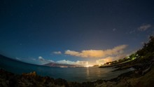 Night Timelapse At Beach In Maui Hwaii