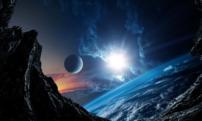 Abstract planets and space ...