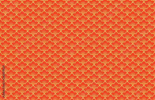 Türaufkleber Künstlich Japanese ornament with sakura flowers vector seamless pattern Premium background