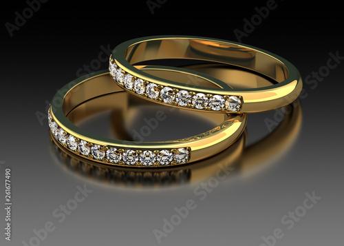 Dwie obrączki diamentowe