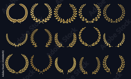 Golden laurel wreath Canvas-taulu