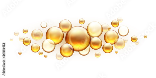 Fotografie, Obraz  Golden oil bubbles