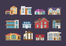 Set Of Colorful Country Houses...