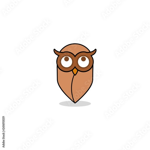 Photo Stands Owl icon or logo
