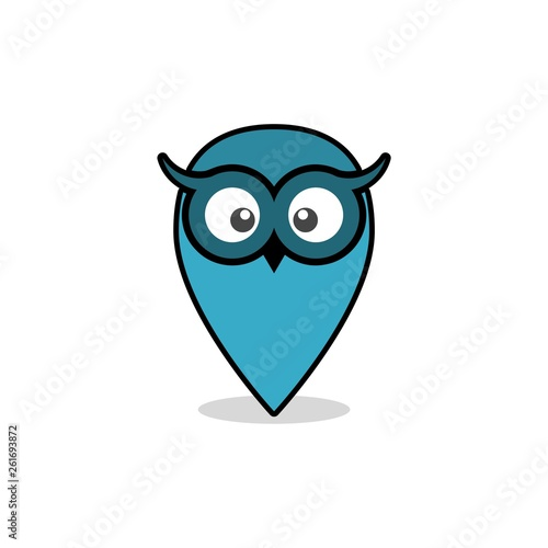 Photo Stands Owls cartoon Owl icon or logo