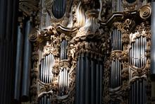 Old Church Organ Pipe Detail